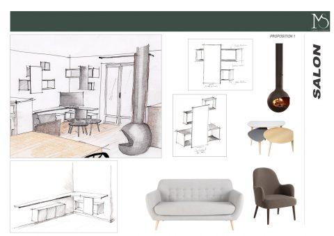 Ambiance mobilier et coin salon proposition 1