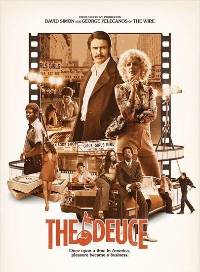 Image de la série The Deuce avec James Franco et Maggie Gyllenhaal entre autre.