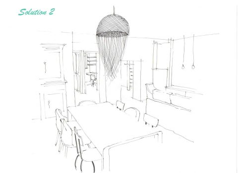 Perspective du projet n°2, Vue des baies vitrées