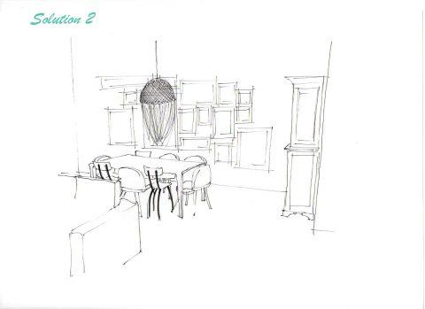 Perspective du projet n°2, Vue du salon