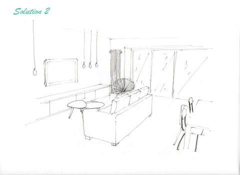 Perspective du projet n°2, Vue de l'entrée