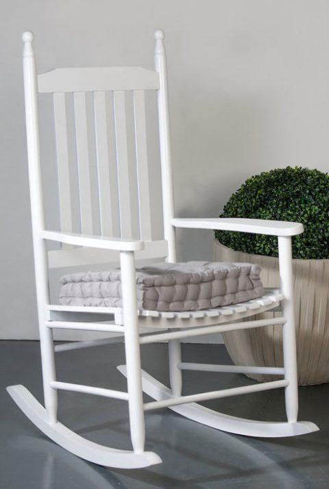 Rocking chair blanc classique de chez De la Maison