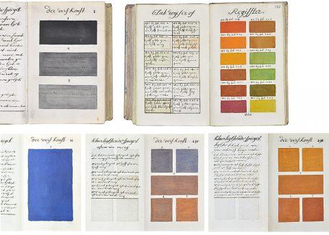 Photo du Traité des couleurs réalisé par Mr. A Boogert à voir à la Bibliothèque de Méjanes à Aix en Provence.