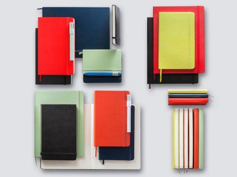 Multitude de cahiers Moleskine, couleurs, format, aspect, vous n'avez qu'à choisir!