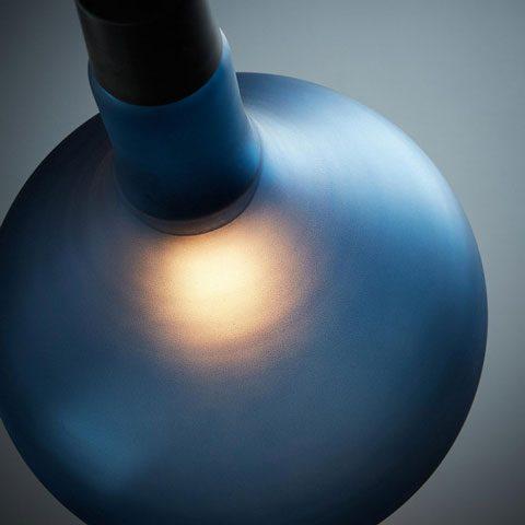 Wolen Suspension bleue rappelant une goutte d'eau