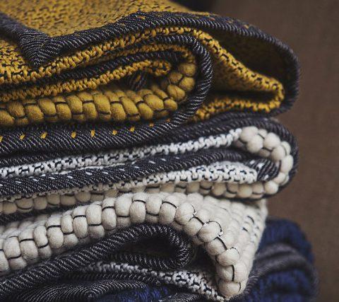 Plaid laine et coton de chez Caravane