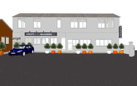 visuel 3D de la façade d'entrée