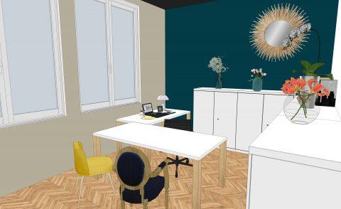 Visuel 3D d'un bureau d'avocat associé
