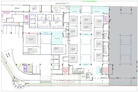 Plan d'aménagement d'une école de commerce