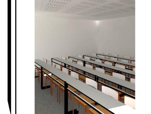 Visuel 3D d'une salle de classe
