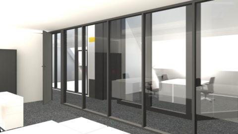 Visuel 3D des bureaux du personnel